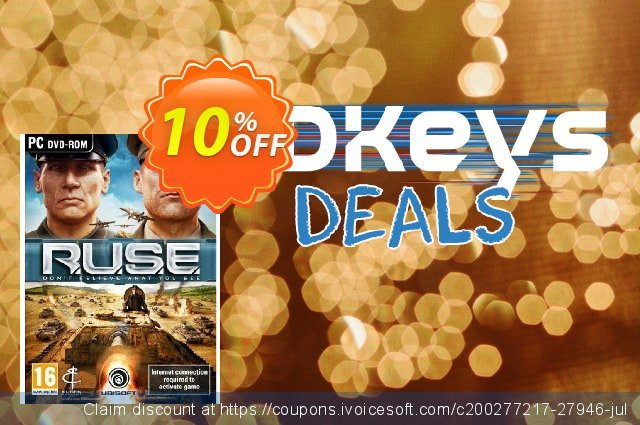 R.U.S.E (PC) discount 10% OFF, 2021 New Year's Day offering sales