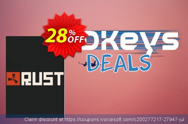Rust PC discount 28% OFF, 2020 Thanksgiving Day offering sales