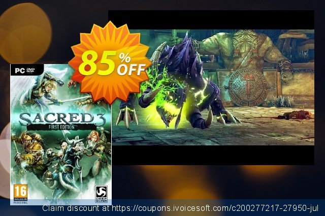 Sacred 3 First Edition PC discount 86% OFF, 2020 Thanksgiving Day sales