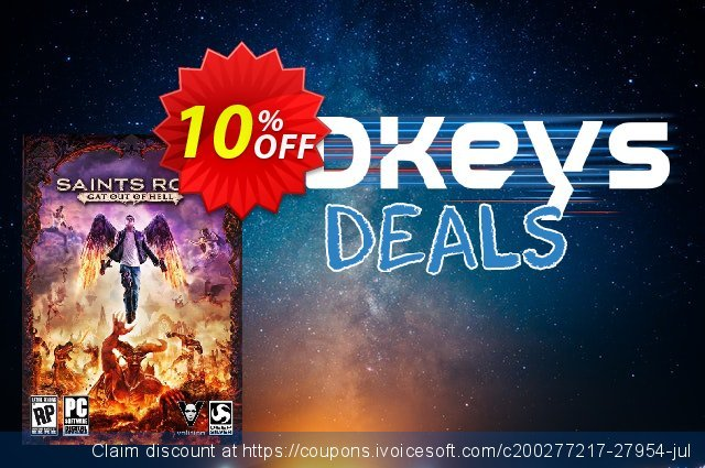 Saints Row: Gat out of Hell PC discount 10% OFF, 2020 Black Friday offering discount