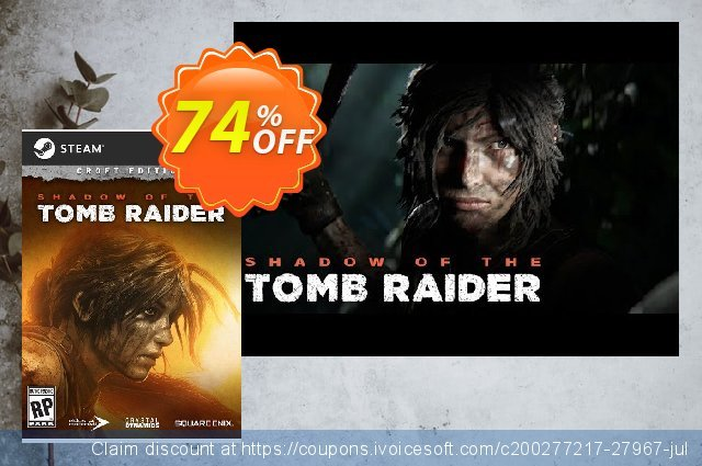 Shadow of the Tomb Raider Croft Edition PC + DLC discount 40% OFF, 2020 Halloween offering sales