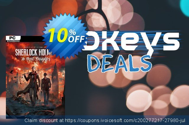 Sherlock Holmes - The Devils Daughter PC discount 10% OFF, 2020 Thanksgiving Day offering sales