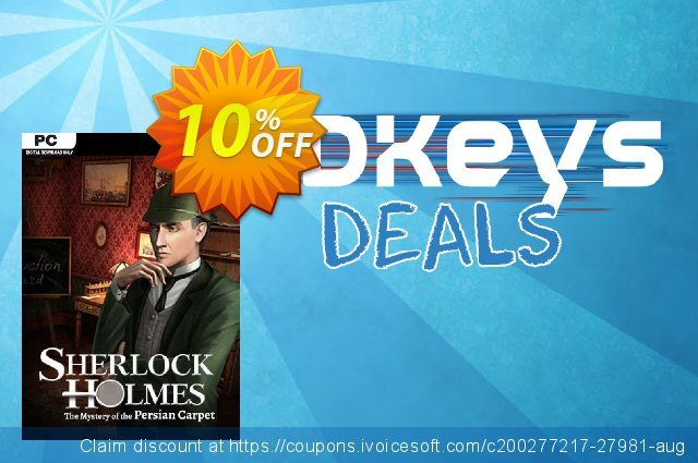 Sherlock Holmes The Mystery of the Persian Carpet PC discount 10% OFF, 2020 Black Friday offering sales
