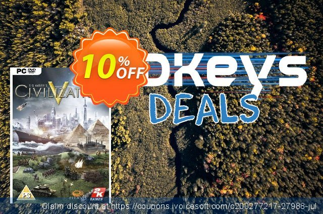 Sid Meier's Civilization V 5 (PC) discount 10% OFF, 2020 Christmas & New Year deals