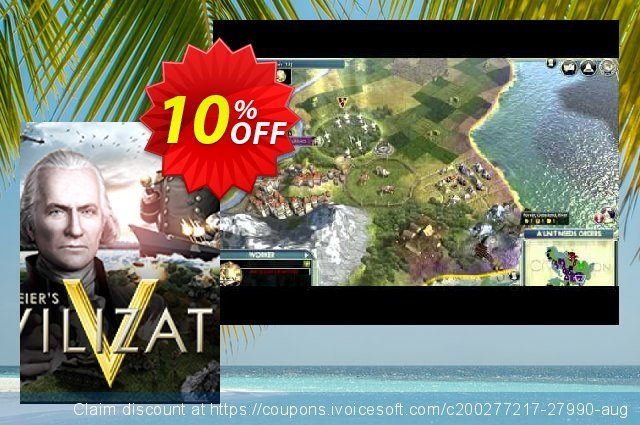 Sid Meier's Civilization V PC discount 10% OFF, 2021 January offering sales