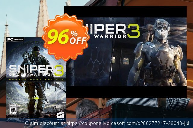 Sniper Ghost Warrior 3 Season Pass Edition PC discount 10% OFF, 2020 Christmas promo sales