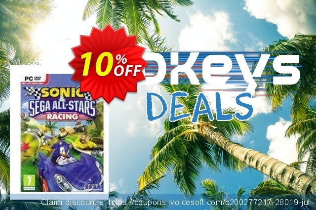 Sonic & SEGA All-Stars Racing (PC) discount 10% OFF, 2020 Thanksgiving Day offering sales