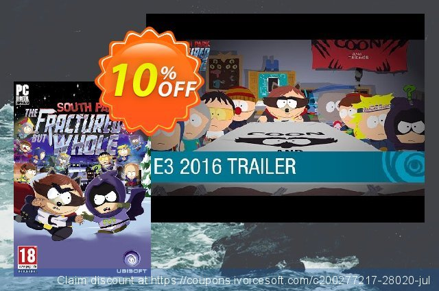 South Park The Fractured but Whole PC (US) discount 10% OFF, 2020 Black Friday offering sales
