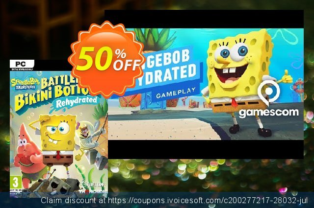 SpongeBob SquarePants: Battle for Bikini Bottom - Rehydrated PC discount 53% OFF, 2020 Black Friday offering deals