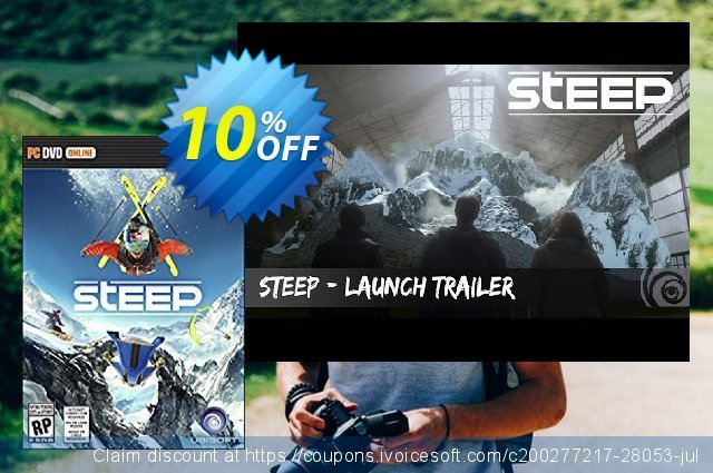 Steep PC (US) discount 10% OFF, 2020 Black Friday promo