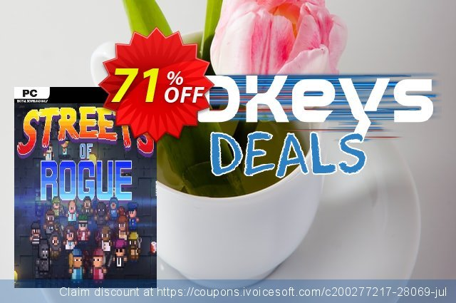 Streets of Rogue PC discount 10% OFF, 2020 Thanksgiving offering sales