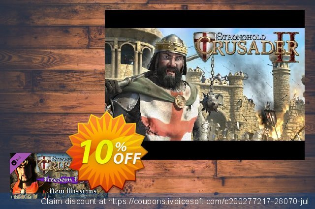Stronghold Crusader 2 Freedom Fighters minicampaign PC discount 10% OFF, 2021 Spring offering sales