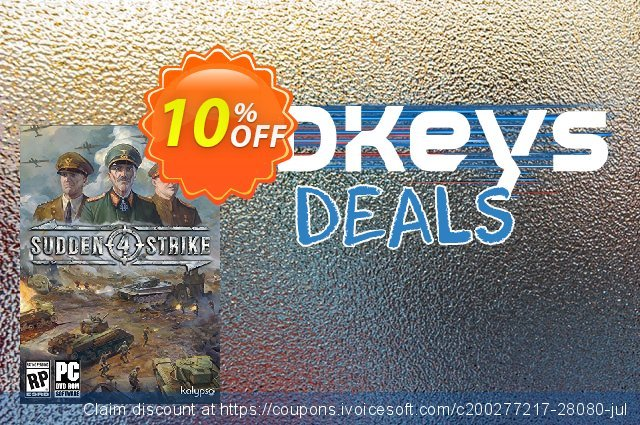 Sudden Strike 4 PC discount 10% OFF, 2020 Christmas Day discounts