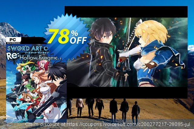 Sword Art Online Re: Hollow Fragment PC discount 10% OFF, 2020 Thanksgiving Day offer