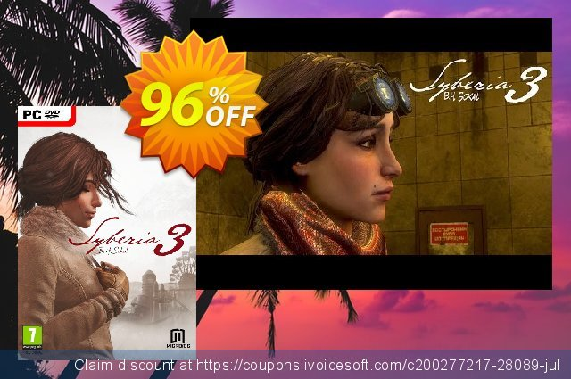 Syberia 3 PC discount 88% OFF, 2020 Black Friday offering deals