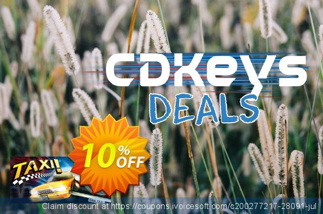 Taxi PC discount 10% OFF, 2020 Halloween promo sales