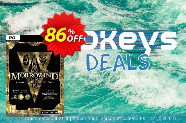 The Elder Scrolls III Morrowind Game of the Year Edition PC discount 71% OFF, 2020 Black Friday offering sales