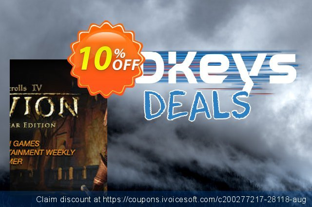 The Elder Scrolls IV Oblivion Game of the Year Edition PC discount 10% OFF, 2020 Thanksgiving Day offering sales