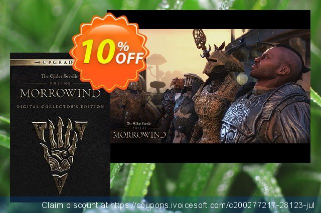 The Elder Scrolls Online - Morrowind Digital Collectors Edition Upgrade PC discount 10% OFF, 2020 Thanksgiving offer