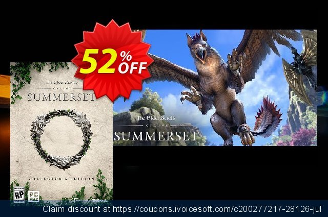 The Elder Scrolls Online Summerset Collectors Edition PC discount 53% OFF, 2020 Back to School promo offer