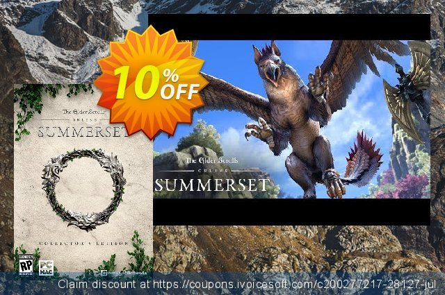 The Elder Scrolls Online Summerset Collectors Edition Upgrade PC discount 10% OFF, 2021 All Hallows' Eve offering sales. The Elder Scrolls Online Summerset Collectors Edition Upgrade PC Deal