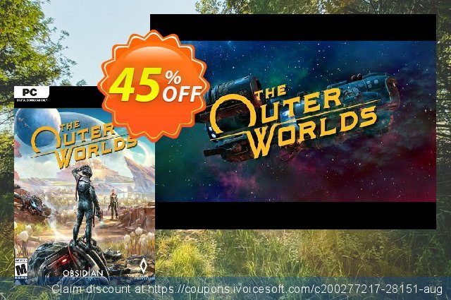 The Outer Worlds PC discount 45% OFF, 2020 Thanksgiving Day offering sales