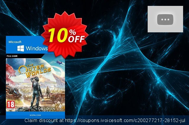 The Outer Worlds - Windows 10 PC discount 10% OFF, 2020 Black Friday offering sales