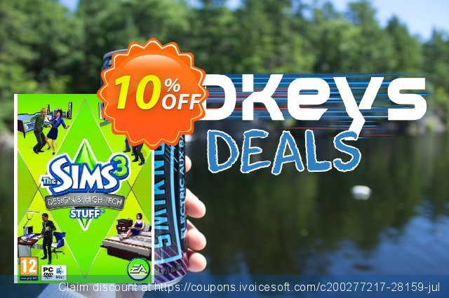 The Sims 3: Design and Hi-Tech Stuff (PC/Mac) discount 10% OFF, 2020 Thanksgiving sales