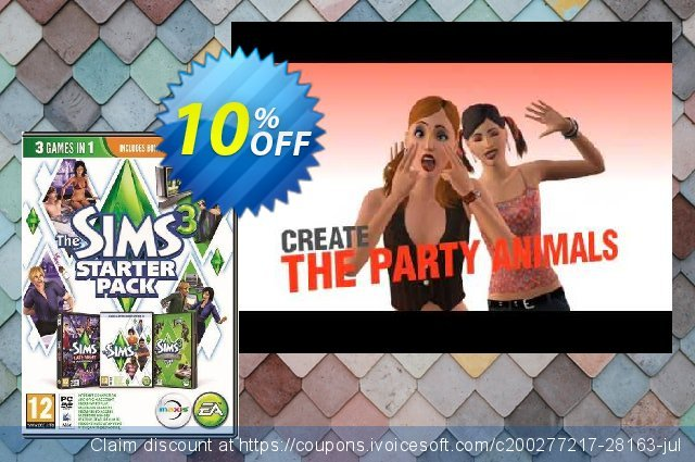 The Sims 3: Starter Bundle PC discount 10% OFF, 2020 Thanksgiving Day offering discount