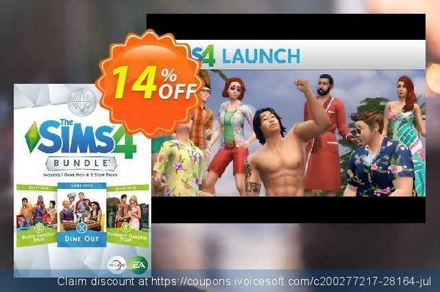 The Sims 4 - Bundle Pack 3 PC discount 26% OFF, 2021 Happy New Year offering sales