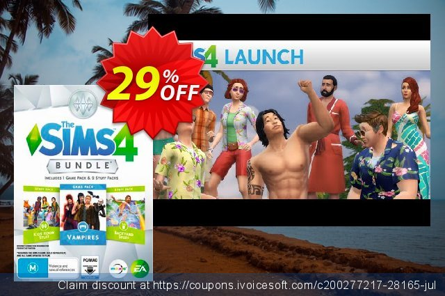 The Sims 4 - Bundle Pack 4 PC discount 29% OFF, 2020 Thanksgiving offering deals