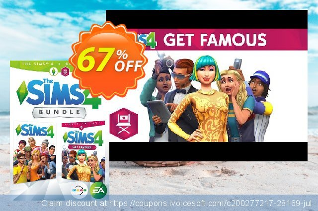 The Sims 4 - Get Famous Bundle PC discount 67% OFF, 2020 Thanksgiving Day offering sales