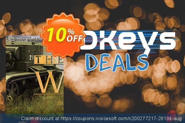 Theatre of War PC discount 10% OFF, 2020 Thanksgiving Day offering deals