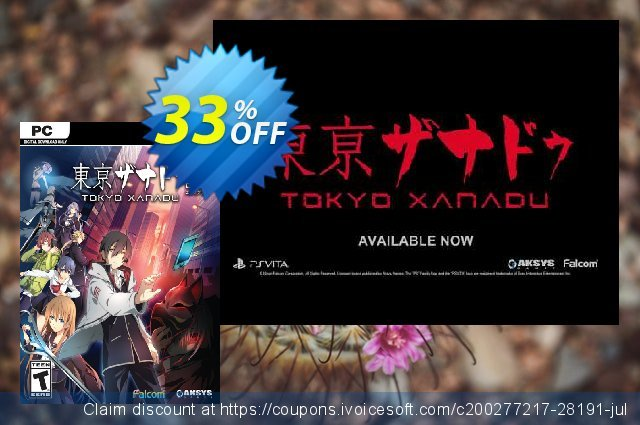 Tokyo Xanadu eX PC discount 63% OFF, 2020 Black Friday offering sales