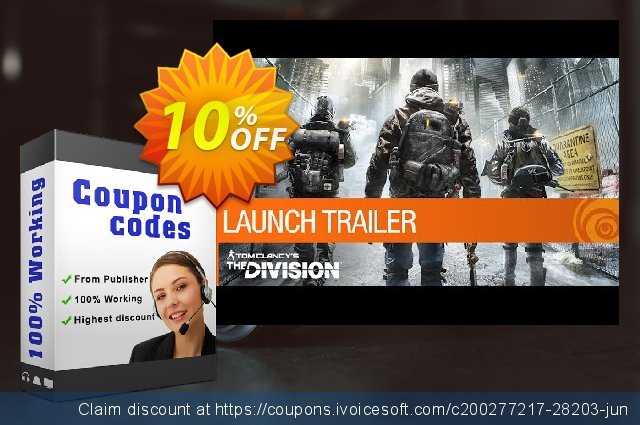 Tom Clancy's The Division PC (ENG) discount 10% OFF, 2020 Xmas promo sales