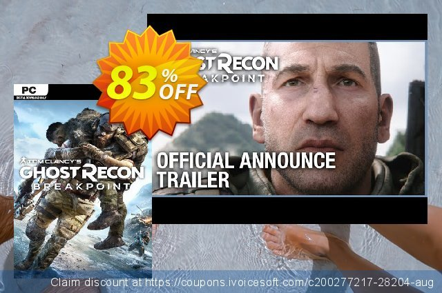 Tom Clancy's Ghost Recon Breakpoint PC discount 45% OFF, 2020 Thanksgiving promo sales