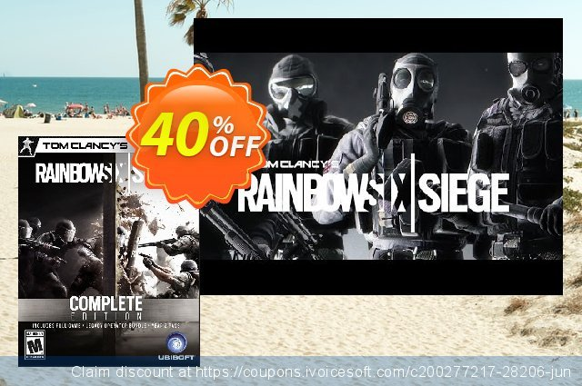Tom Clancys Rainbow Six Siege Complete Edition PC discount 40% OFF, 2020 Black Friday offering sales