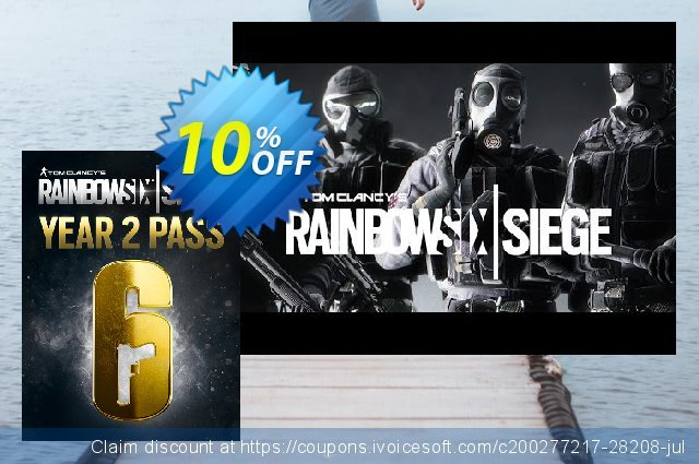 Tom Clancys Rainbow Six Siege Year 2 Pass PC discount 10% OFF, 2021 Happy New Year deals
