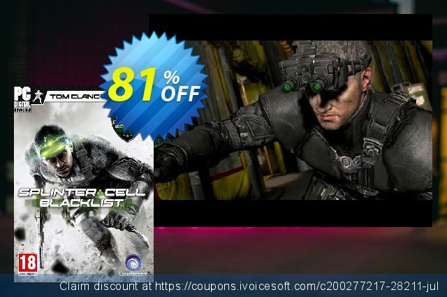 Tom Clancys Splinter Cell Blacklist - Deluxe Edition PC discount 74% OFF, 2020 Thanksgiving Day offering sales