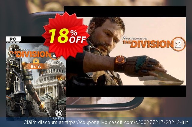 Tom Clancys The Division 2 PC + Beta discount 18% OFF, 2020 Back to School deals offering sales