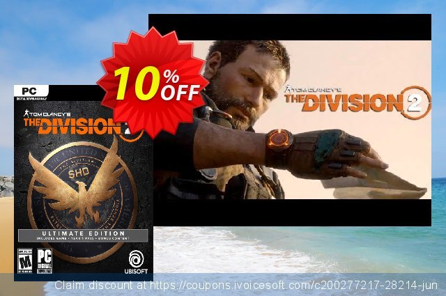 Tom Clancy's The Division 2 Ultimate Edition PC discount 10% OFF, 2020 Thanksgiving Day discounts