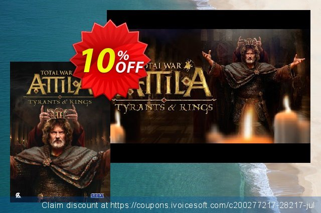 Total War Attila - Tyrants and Kings Edition PC discount 10% OFF, 2021 Native American Day promotions. Total War Attila - Tyrants and Kings Edition PC Deal