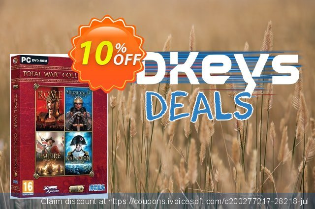 Total War Collection PC discount 10% OFF, 2020 Black Friday offer