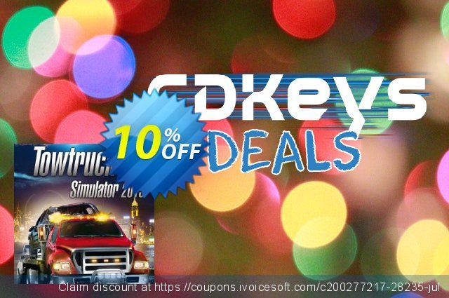 Tow Truck Simulator (PC) discount 10% OFF, 2020 Thanksgiving Day sales