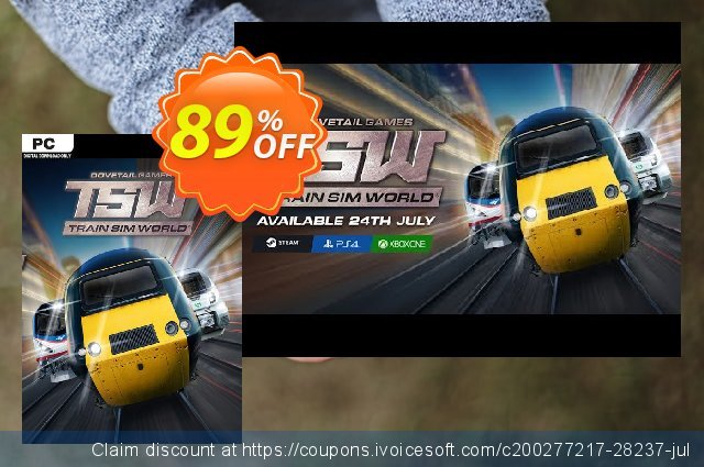 Train Sim World PC + DLCs discount 83% OFF, 2020 Back to School season sales