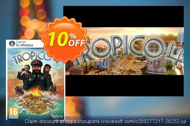 Tropico 4 (PC) discount 10% OFF, 2020 Xmas Day promotions