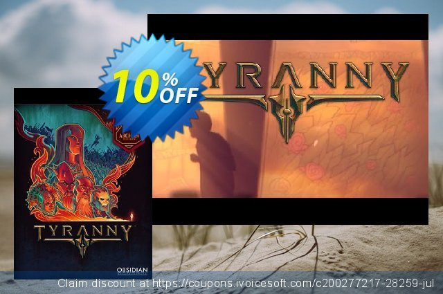 Tyranny - Archon Edition PC discount 10% OFF, 2020 Exclusive Student deals discount