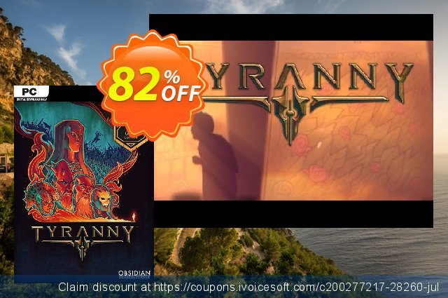 Tyranny Gold Edition PC discount 50% OFF, 2020 Black Friday offering deals