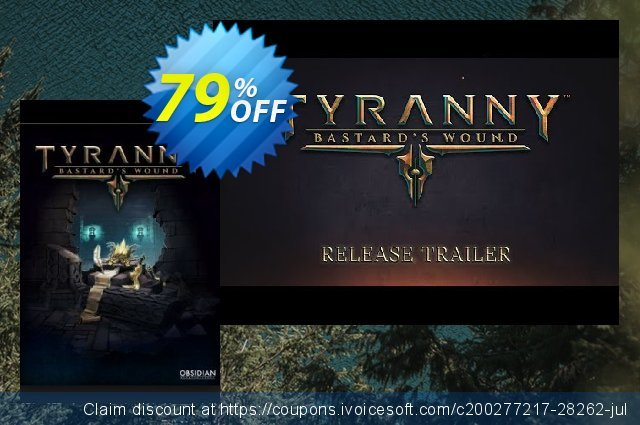 Tyranny PC - Bastards Wound DLC discount 55% OFF, 2020 Thanksgiving Day promo