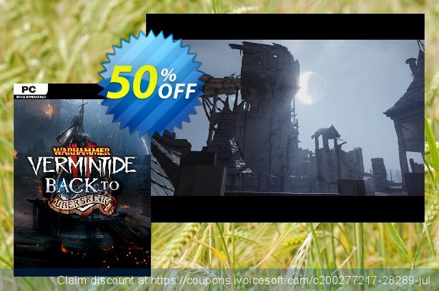 Warhammer Vermintide 2 PC - Back to Ubersreik DLC discount 53% OFF, 2020 End year discounts